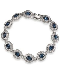 Carolee - Simply Blue Oval Pav Tennis Bracelet - Lyst