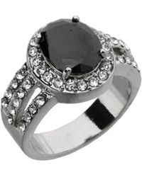 Dillard's - Boxed Collection Black Oval-cut Cubic Zirconia Ring - Lyst