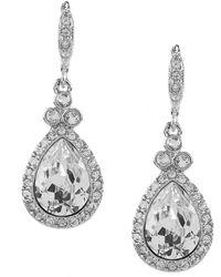 Givenchy | Crystal Pavé Pear Drop Earrings | Lyst