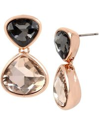 Kenneth Cole | Black Diamond And Blush Stone Drop Earrings | Lyst