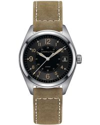 Hamilton - Khaki Field Analog & Date Leather-strap Watch - Lyst