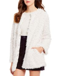 Chelsea & Violet Faux Fur Teddy Jacket - White