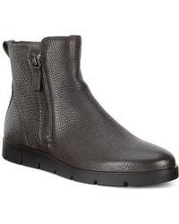 164882190037 Lyst - Ecco Bella Nubuck Zip Booties in Gray