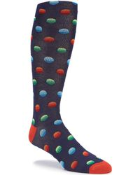 Cremieux - Ombre Dots Over-the-calf Dress Socks - Lyst