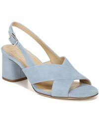 Naturalizer Azalea Suede Block Heel Slingback Sandals - Blue