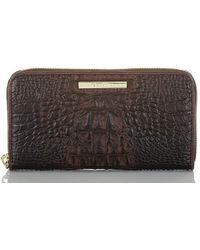 Brahmin Suri Leather Continental Wallet - Brown
