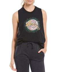 Free People - Fp Movement At The Barre Graphic Print Tank Top - Lyst