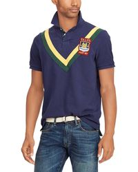 Polo Ralph Lauren - Striped Chevron Trim Short-sleeve Polo Shirt - Lyst