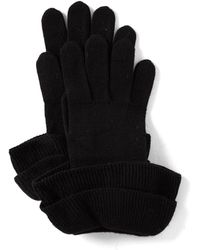 Badgley Mischka - Ladies' Ruffle Gloves - Lyst