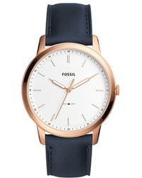 Fossil - The Minimalist Analog Leather-strap Watch - Lyst