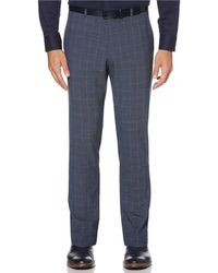 Perry Ellis Slim-fit Wrinkle-resistant Stretch Pants - Blue