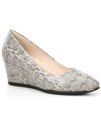 Cole Haan - Grand Ambition Snake Print Leather Wedges - Lyst