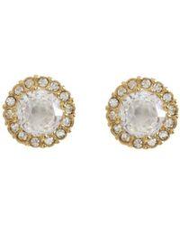 Nadri - Crystal Pavé Stud Earrings - Lyst