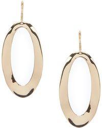 Dillard's - Oval Metal Link Drop Earrings - Lyst