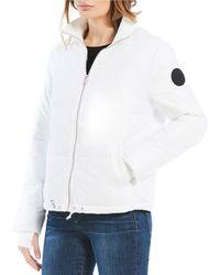 UGG - Izzie Ribbed Waist Puffer Jacket - Lyst