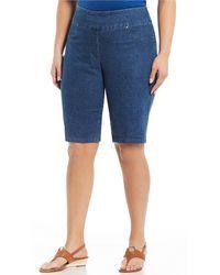 Ruby Rd. - Plus Size Pull-on Extra Stretch Denim Bermuda Shorts - Lyst