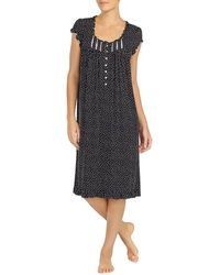 Eileen West - Heart-printed Jersey Waltz Nightgown - Lyst