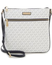 MICHAEL Michael Kors | Bedford Signature Flat Cross-body Bag | Lyst