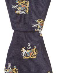 Psycho Bunny - Crest Traditional Silk Tie - Lyst
