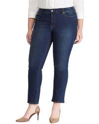 Lauren by Ralph Lauren - Plus Size Ultimate Slimming Premier Straight Curvy Jeans - Lyst