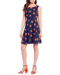 Draper James - Poppy Ponte A-line Floral Motif Dress - Lyst
