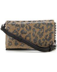 Vince Camuto Bijou Mini Embellished Leopard Shoulder Bag - Multicolour