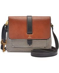 Fossil Kinley Leather Mini Crossbody Bag - Black