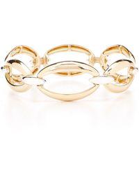 Anne Klein - Oval Interlock Link Stretch Bracelet - Lyst