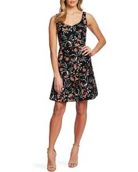 Cece - Sleeveless Floral Print A-line Dress - Lyst