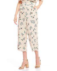 Blu Pepper - Floral Wide Leg Pants - Lyst