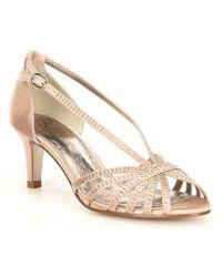 1b84a0f22e7 Lyst - Alexandre Birman Judy Python calfskin Block-heel D orsay Sandal