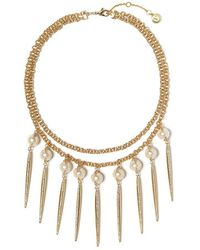 Vince Camuto - Pav Pearl Statement Necklace - Lyst