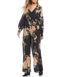 Patrons Of Peace - Dark Floral Jumpsuit - Lyst