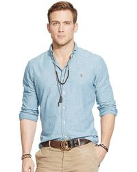 Polo Ralph Lauren - Classic-fit Solid Chambray Shirt - Lyst