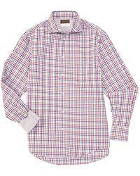 Thomas Dean Plaid Multi-color Long-sleeve Woven Shirt - Red