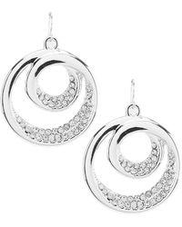 Dillard's - Tailored Glitz Swirl Earrings - Lyst