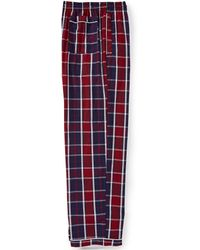 Psycho Bunny - Plaid Woven Pajama Pants - Lyst