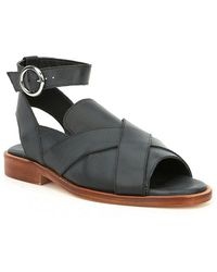 Free People | Catherine Ankle Strap Loafer Sandals | Lyst