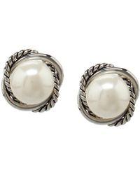 Dillard's - Dillards Boxed Rope Faux-pearl Stud Earrings - Lyst