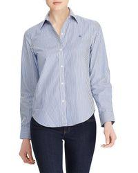 Lauren by Ralph Lauren - Petite Aaron Wrinkle-free Shirt - Lyst