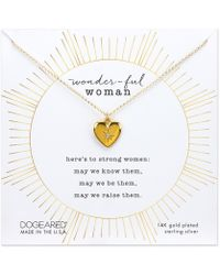 Dogeared - Wonderful Woman Necklace - Lyst