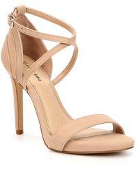 1118cf82c0 Gianni Bini Lydianne Velvet Platform Dress Sandals in Purple - Lyst