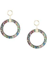 Argento Vivo - Abalone Gypsy Hoop Earrings - Lyst