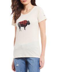 Columbia Outer Bounds Short Sleeve Buffalo Check Tee - Multicolour
