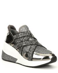 Gianni Bini Glendaa Metallic Chunky Slip-on Sneakers - Multicolour
