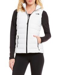 The North Face - Mountain Sports Stretch Down Zip Front Puffer Vest - Lyst 2784c6e16