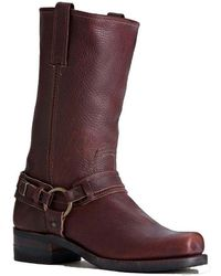 Frye | Belted Harness Leather Pull-on Boots | Lyst