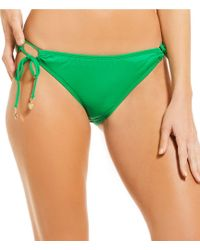 Cremieux - Solid Adjustable Side Tie Hipster Bikini Swimsuit Bottom - Lyst