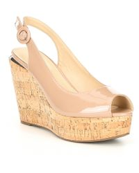 d018678fa24c Guess Eleonora 4 Floral Wedge Sandals in Pink - Lyst