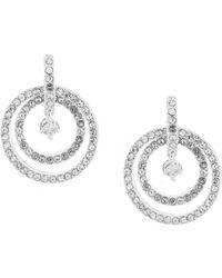 Anne Klein - Crystal Orbital Drop Earrings - Lyst